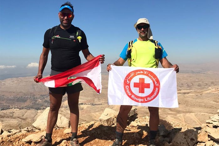NDU PROFESSOR COMPLETES EVERESTING RUN FOR RED CROSS