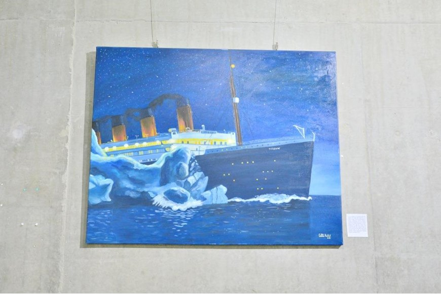 Inaugurating the Lebanese Aboard the Titanic Paintings into  the LERC LMM at NDU 14