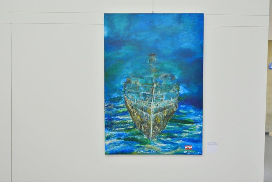 Inaugurating the Lebanese Aboard the Titanic Paintings into  the LERC LMM at NDU 22