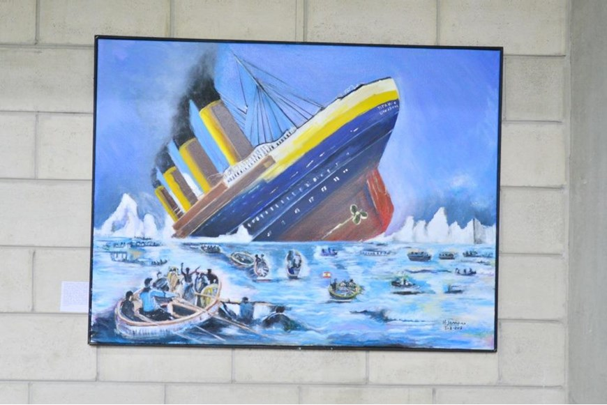 Inaugurating the Lebanese Aboard the Titanic Paintings into  the LERC LMM at NDU 29