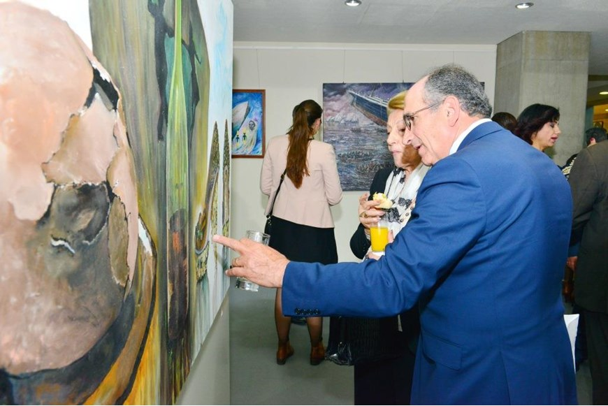 Inaugurating the Lebanese Aboard the Titanic Paintings into  the LERC LMM at NDU 50
