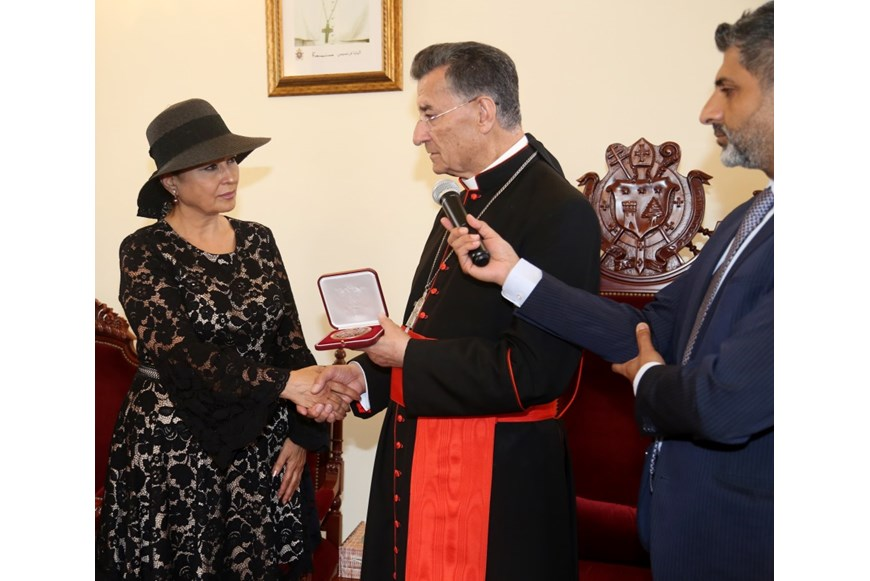 Maronite Patriarch Honors Guita Hourani  1