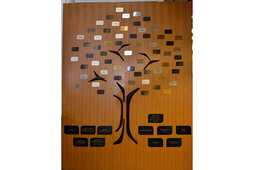NDU Libraries Unveil Donor Tree to Celebrate a Donation of Books 3