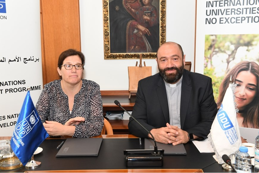 NDU Signs MOU with UNDP in Lebanon on Environment and Climate Change 1