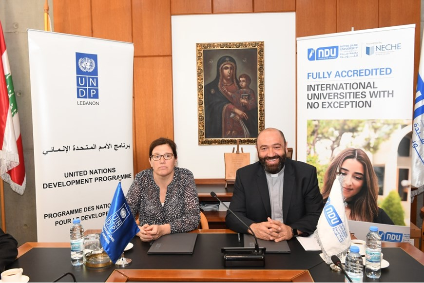 NDU Signs MOU with UNDP in Lebanon on Environment and Climate Change 2