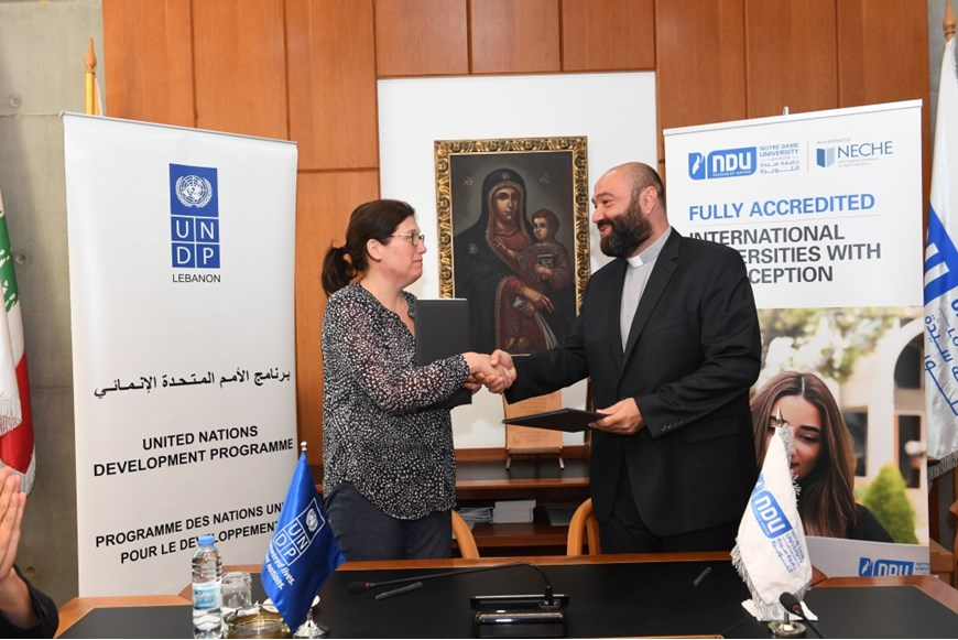 NDU Signs MOU with UNDP in Lebanon on Environment and Climate Change 9